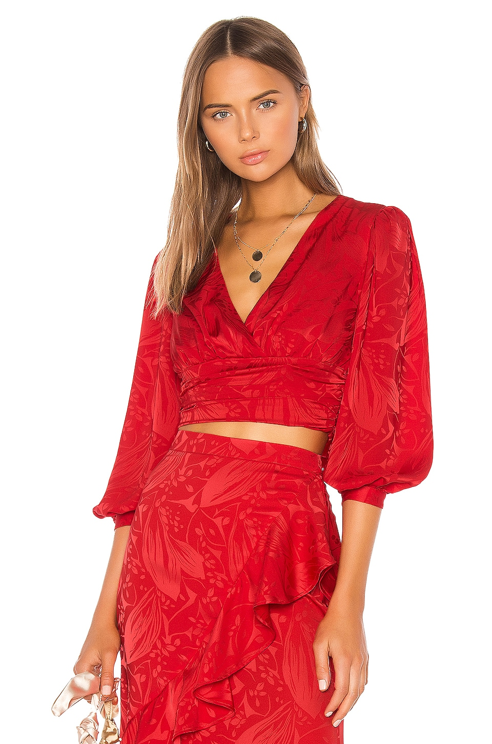 Song of Style Dallas Top in Scarlet Red