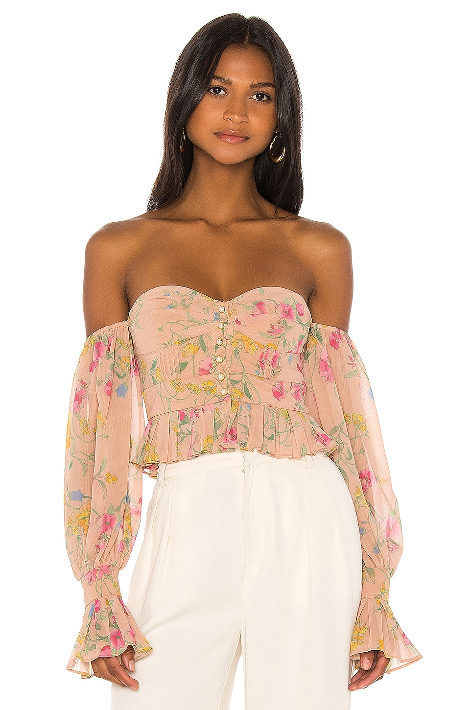 Song of Style Kinney Top in Nude Blossom