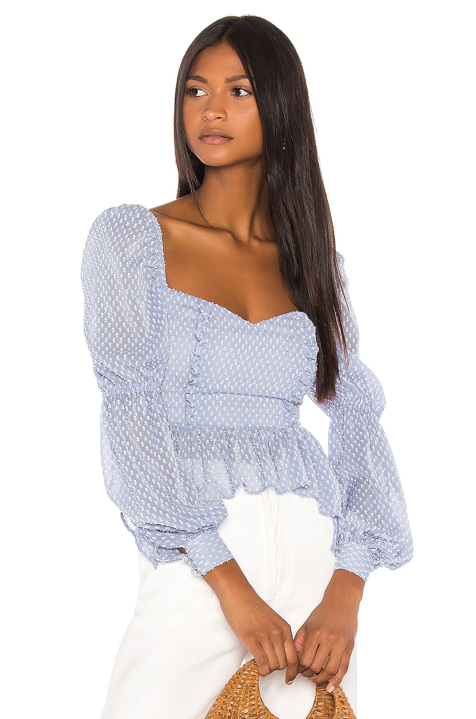 Song of Style Clara Top in Sky Blue