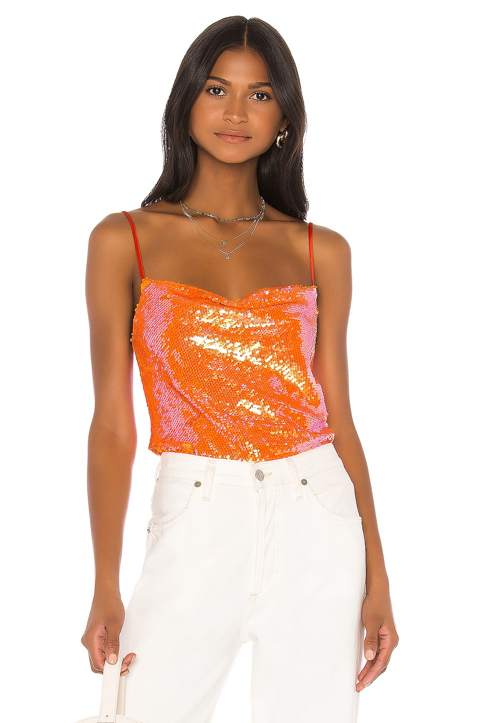 Song of Style Bianca Top in Papaya Orange