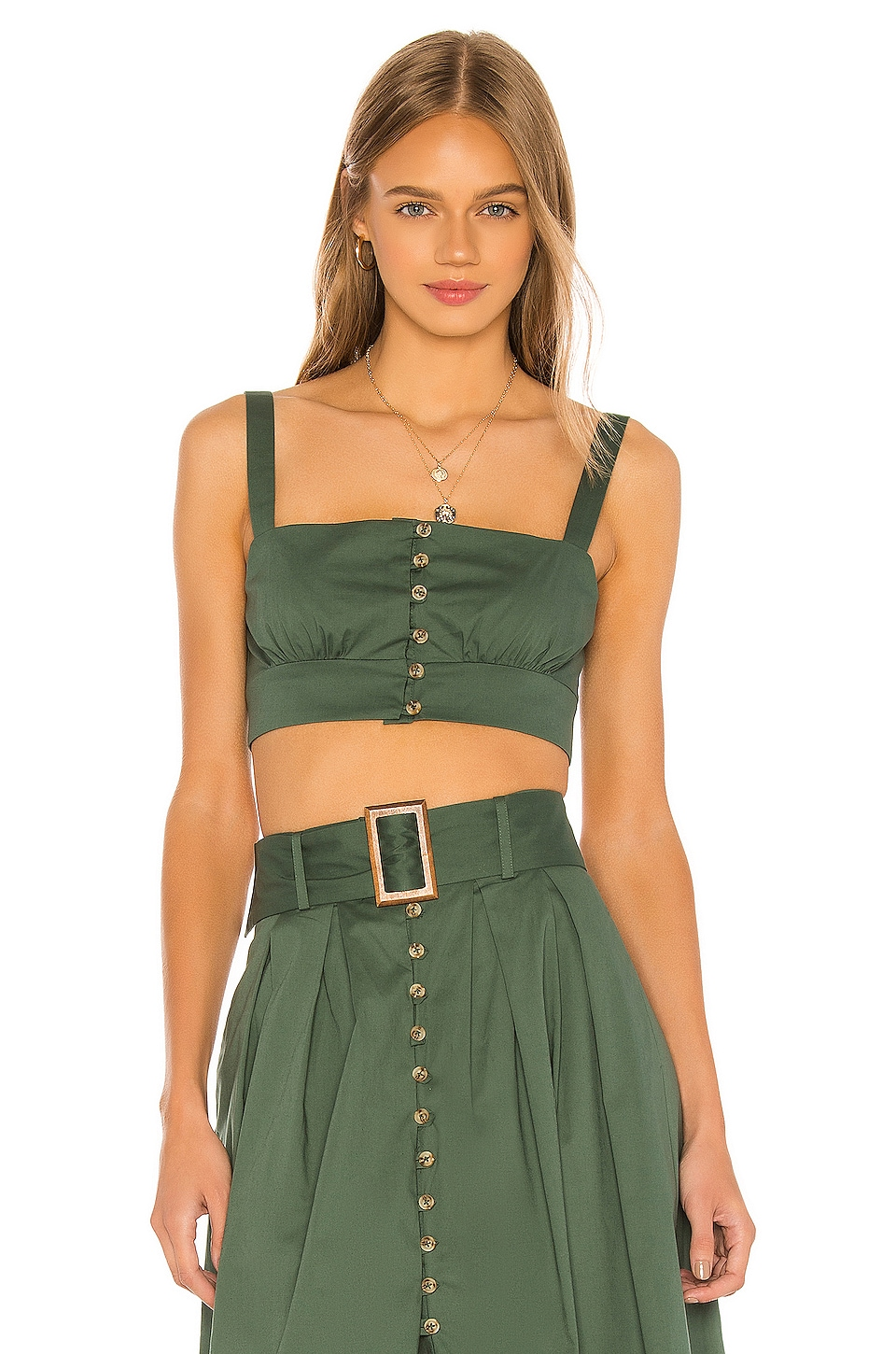 Song of Style Mina Top en Juniper Green