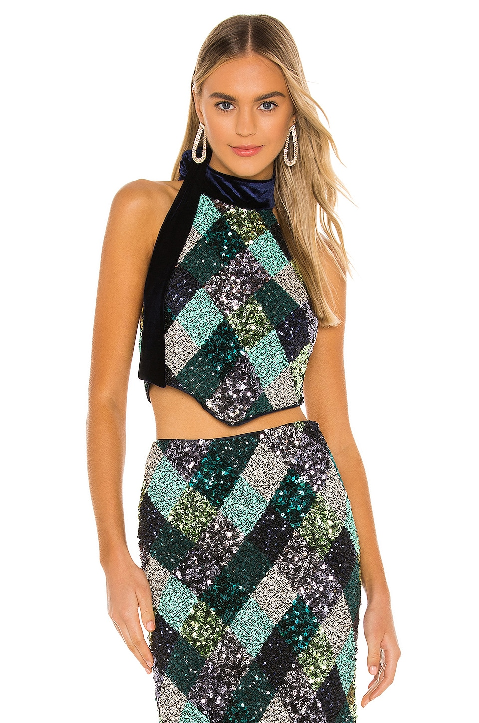Song of Style Florence Top en Argyle Multi