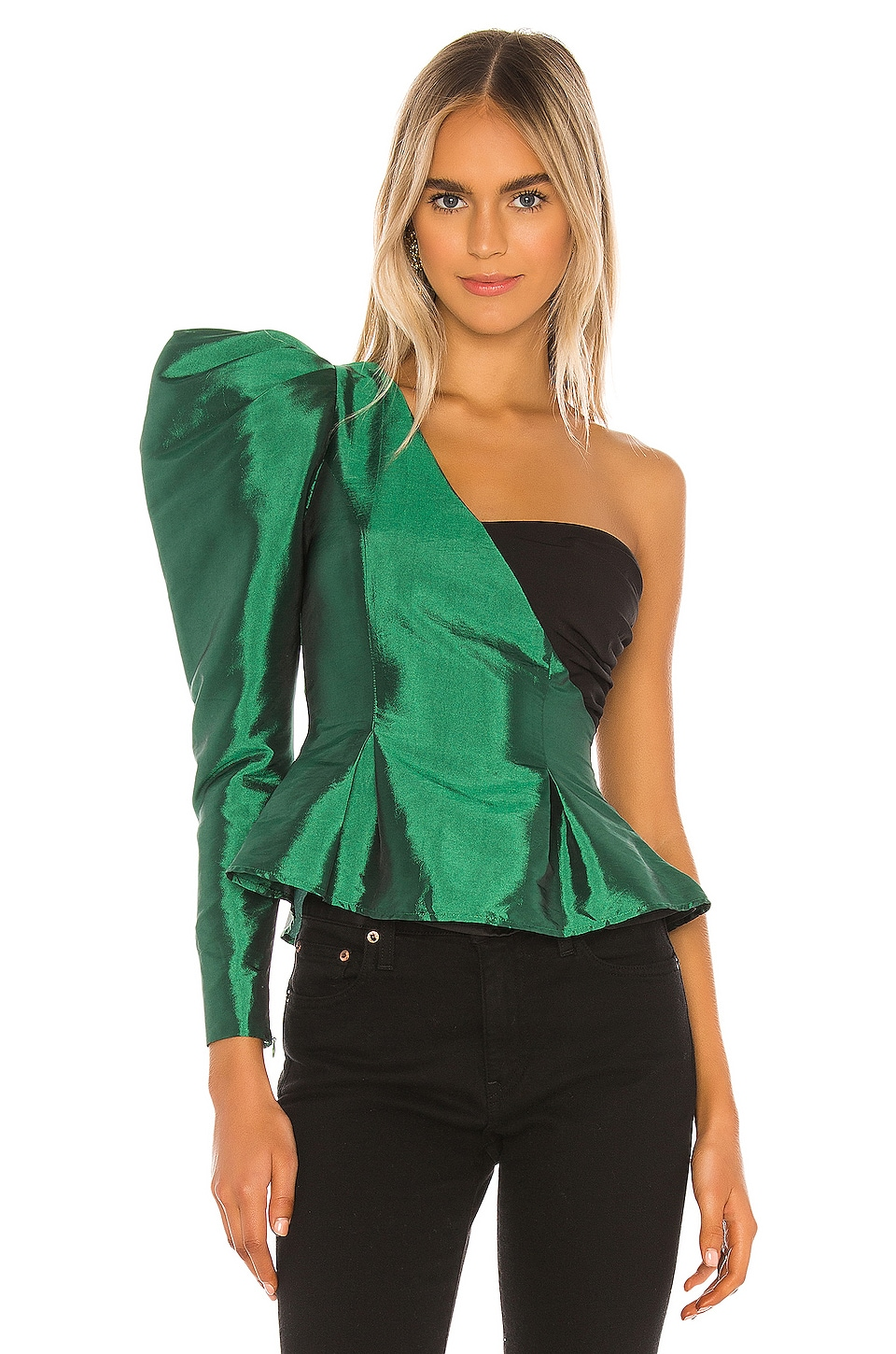 Song of Style Janet Top in Green & Black