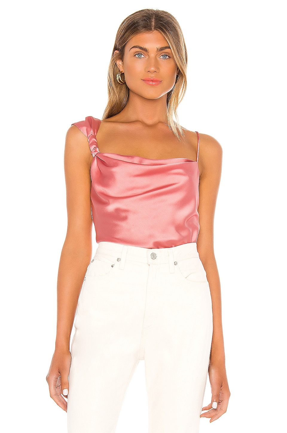 Song of Style Lana Top in Rouge Pink
