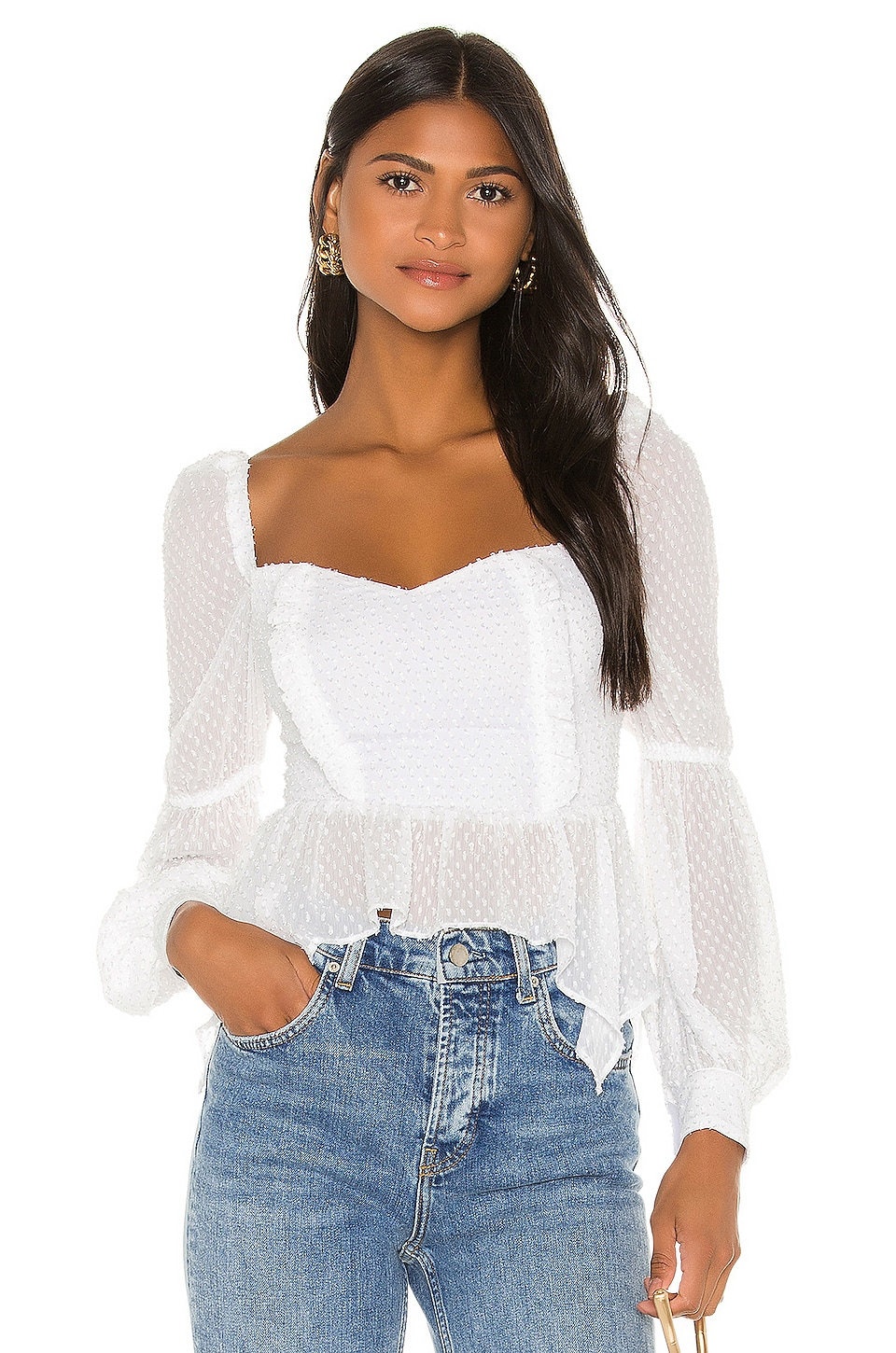 Song of Style Clara Top in White