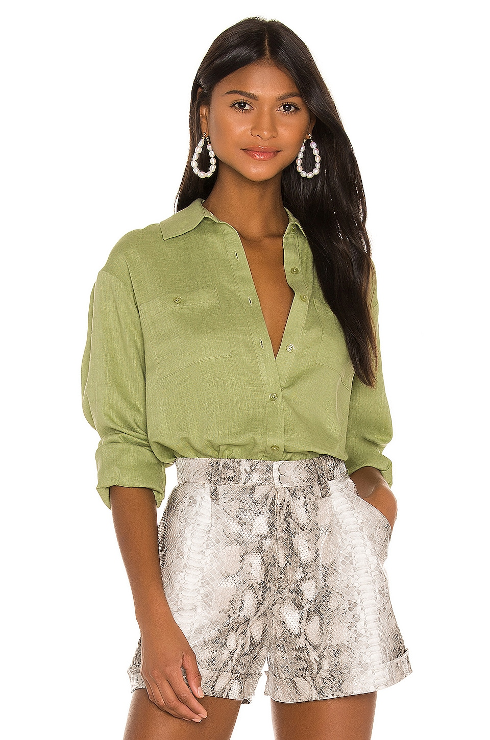 Song of Style Cyril Top en Pear Green