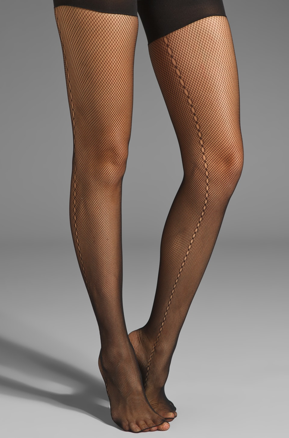 SPANX Side Seam Fishnet Tights in Black