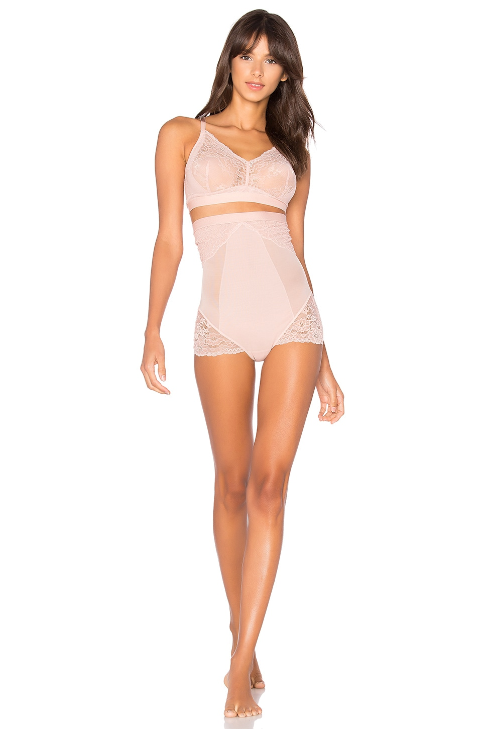 796aede5c Full Product View. SPANX Spotlight On Lace High-Waisted Brief in Vintage  Rose
