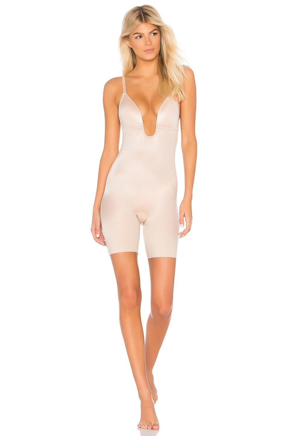 SPANX Suit Your Fancy Bodysuit in Champagne Beige