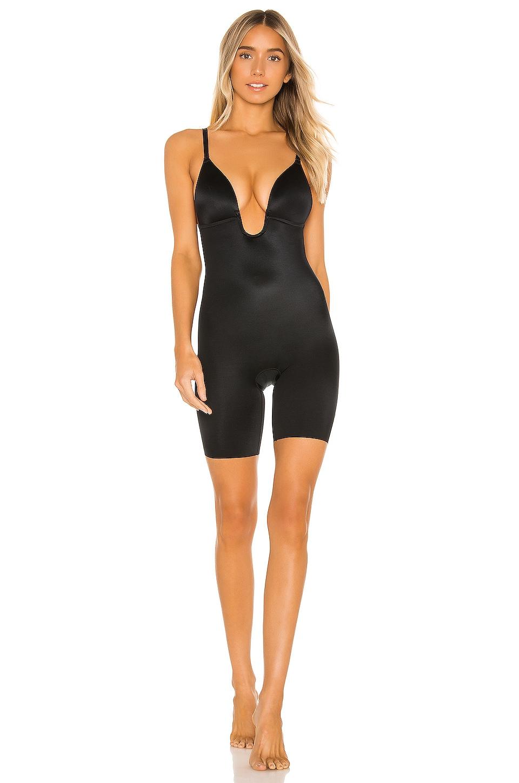 SPANX Suit Your Fancy Low Plunge Bodysuit in Very Black