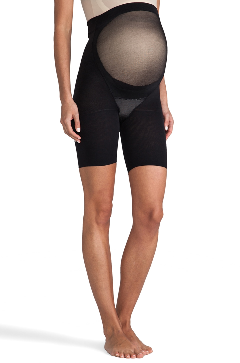 SPANX Power Mama Mid-Thigh Shaper in Black
