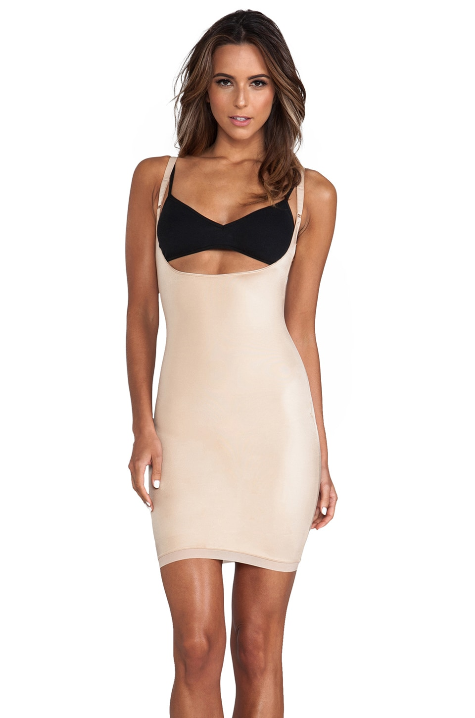 SPANX Simplicity Open-Bust Full Slip in Nude