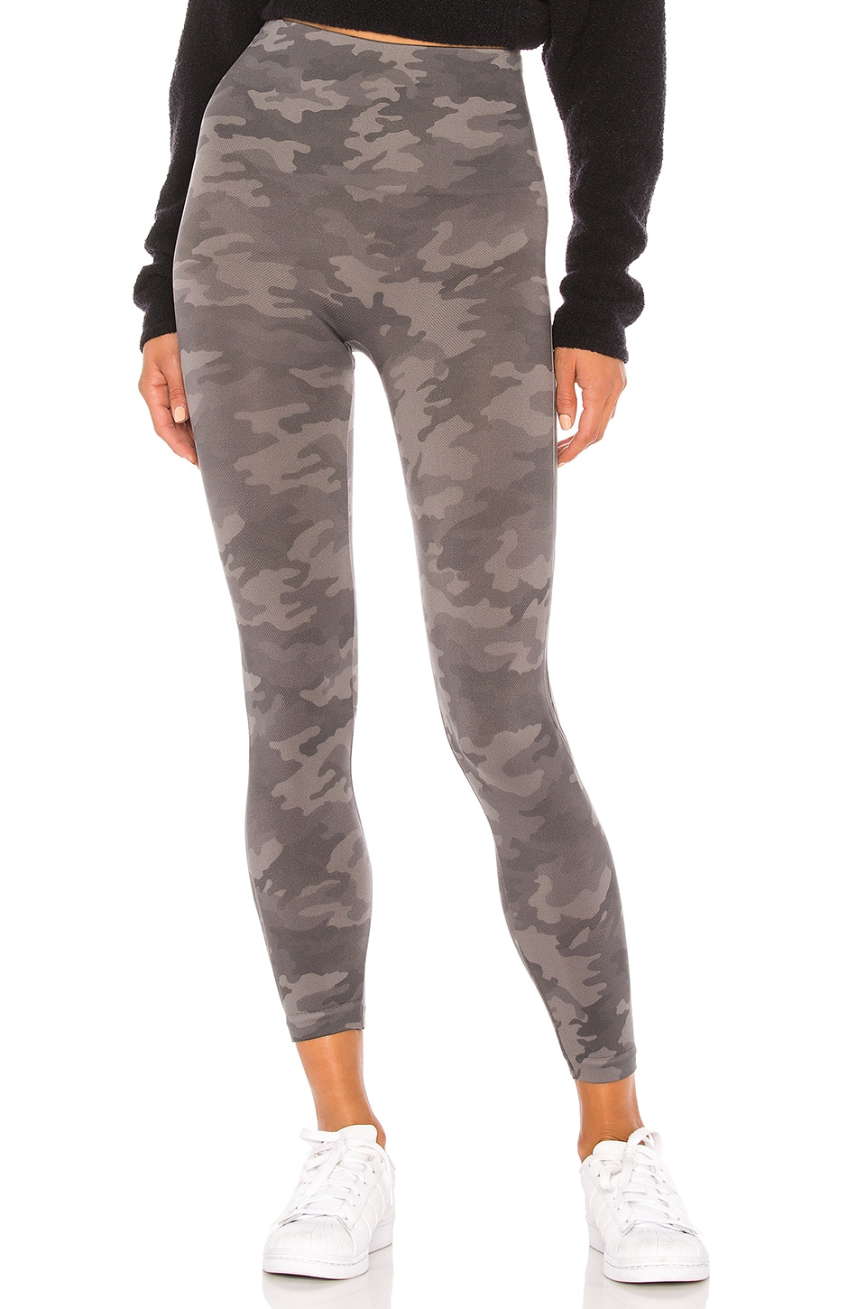 SPANX Cropped Look At Me Now Legging in Sage Camo