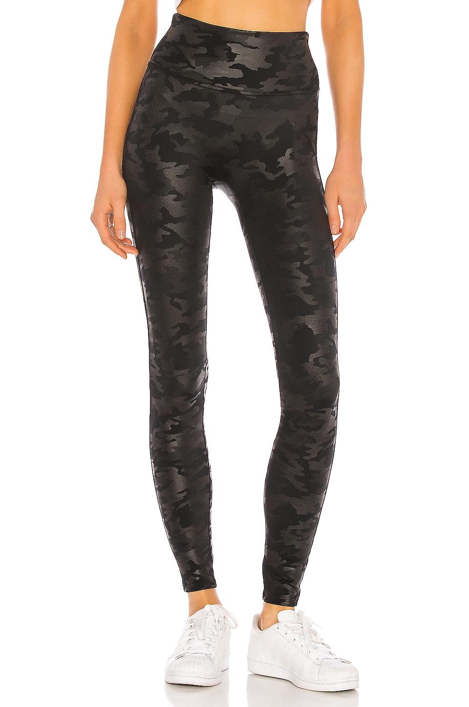 SPANX Faux Leather Camo Legging in Matte Black Camo