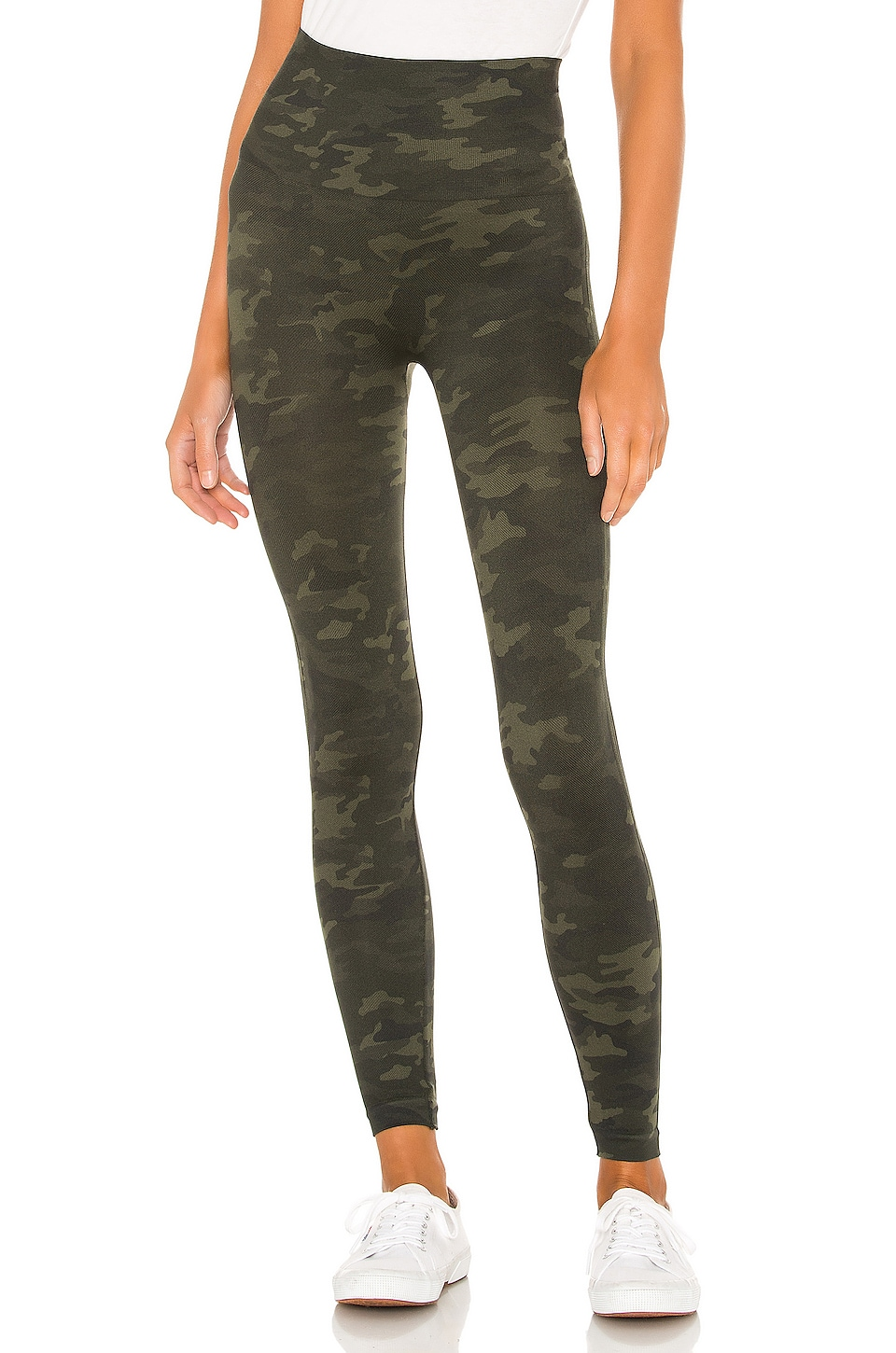 SPANX Look At Me Now Seamless Legging in Green Camo