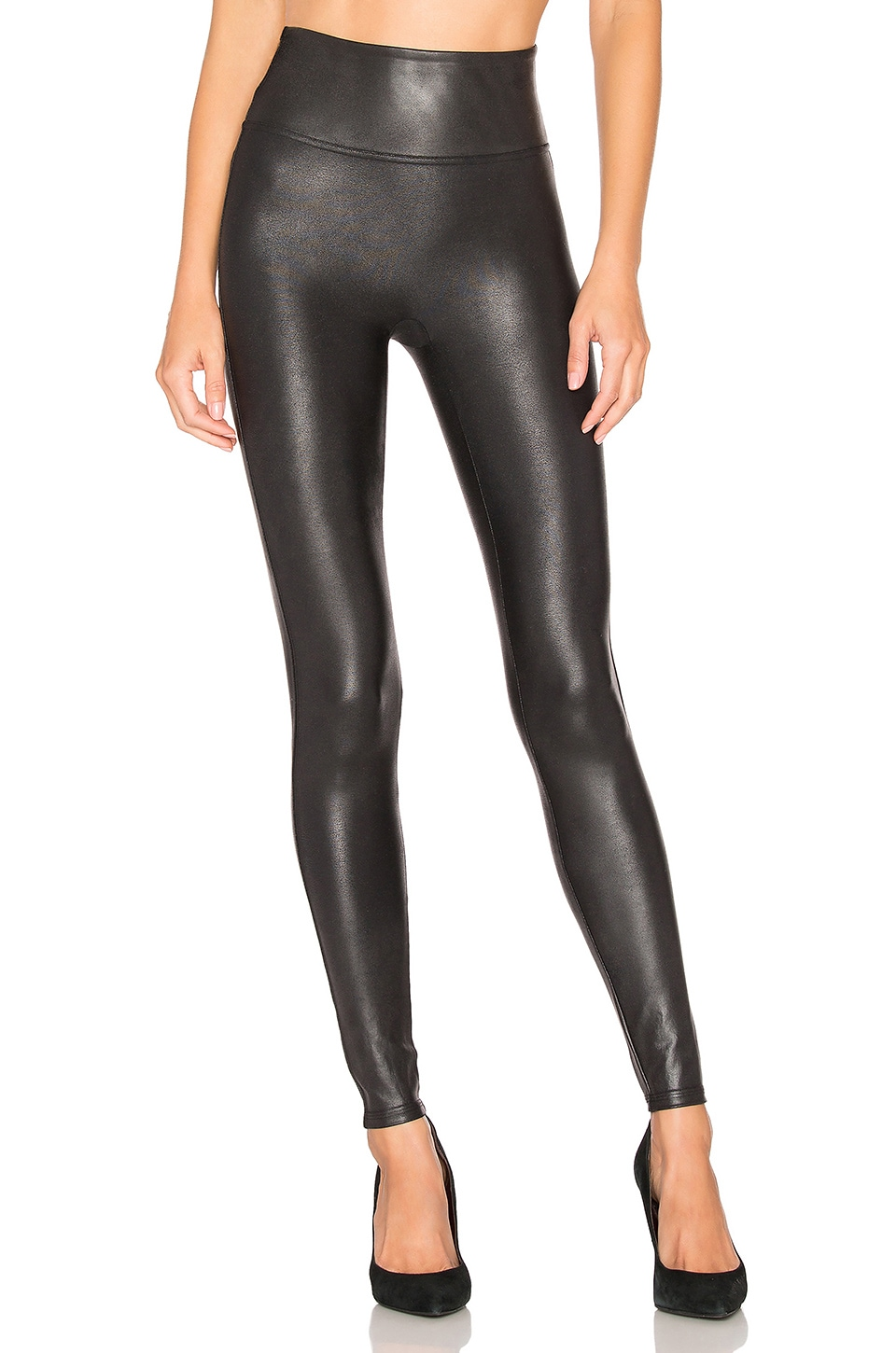 SPANX Faux Leather Leggings en Black