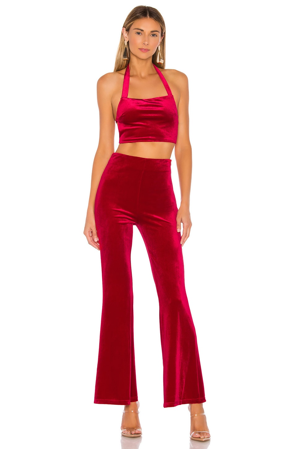 superdown Debbie Pant Set in Cherry