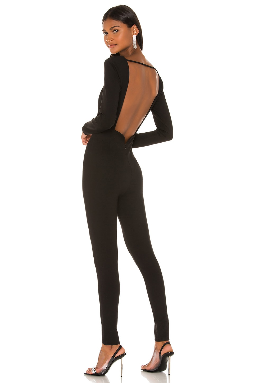 superdown x Draya Michele Doni Sweetheart Catsuit in Black