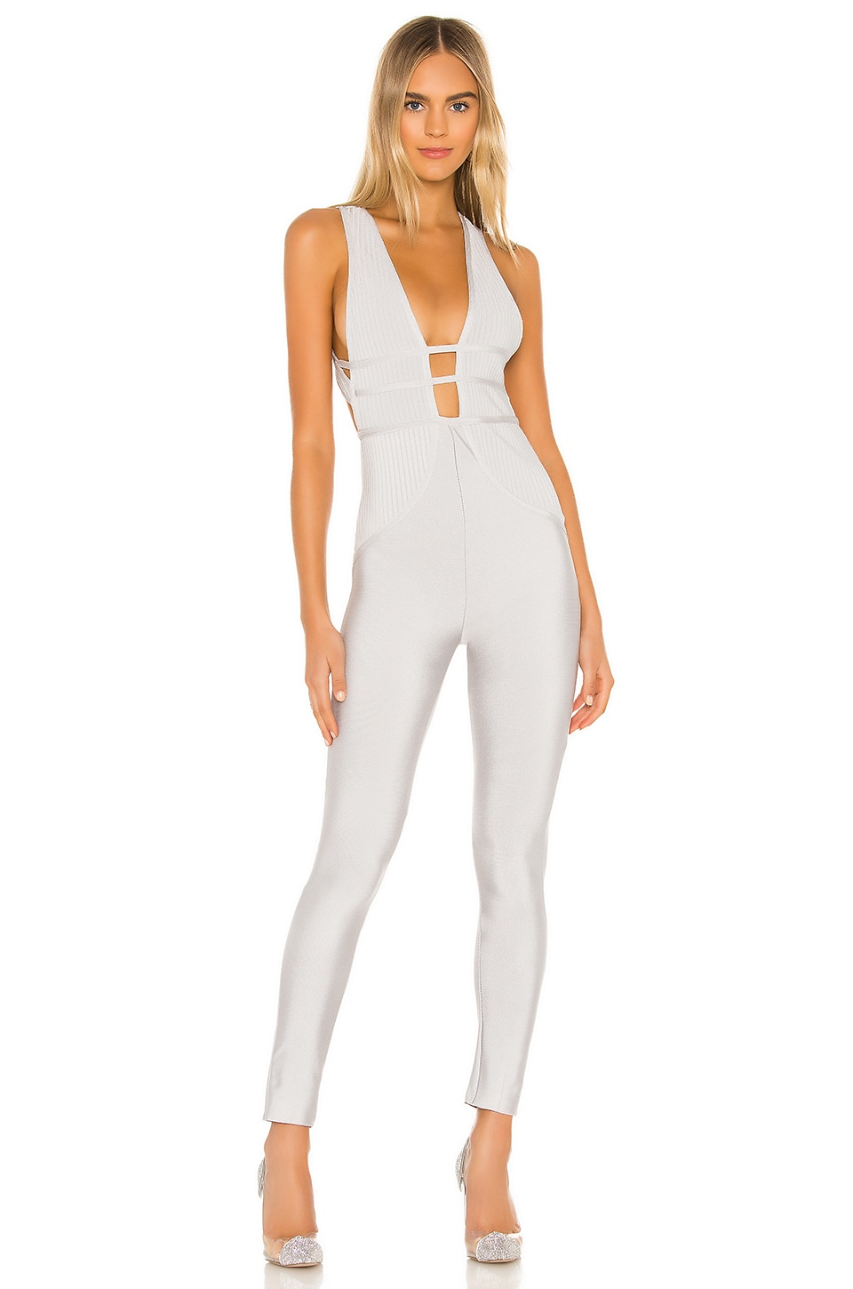 superdown Brently Crossback Jumpsuit in Silver