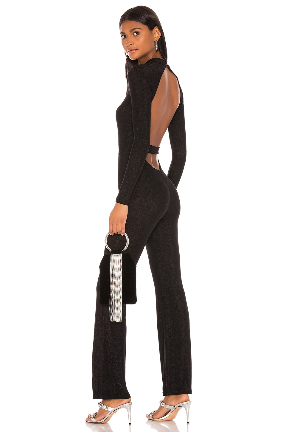 superdown Nissa Open Back Jumpsuit in Black