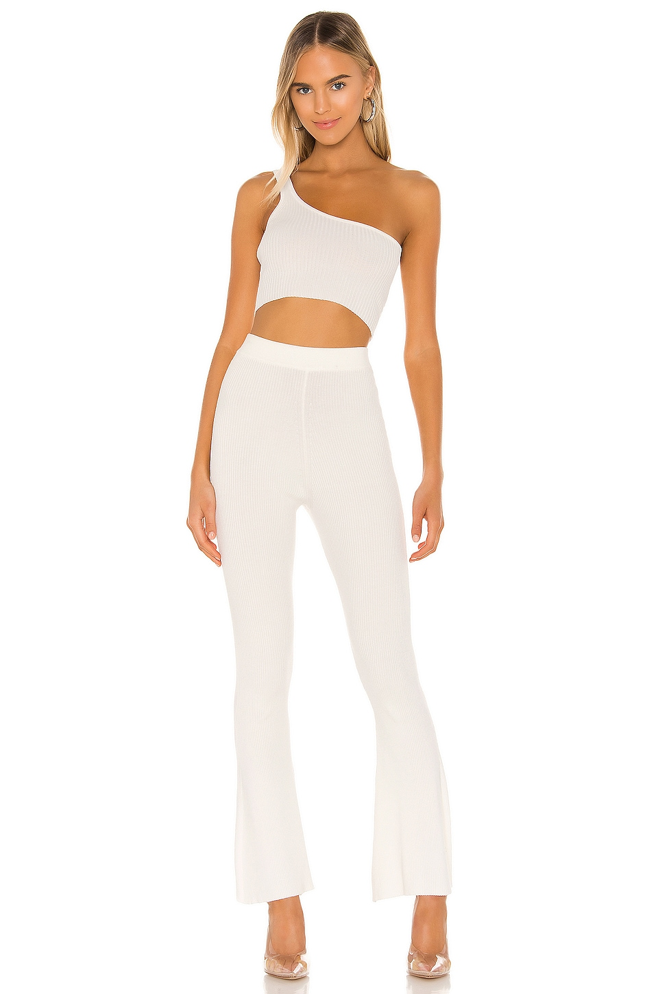 superdown Carrie Knit Pant Set in Ivory