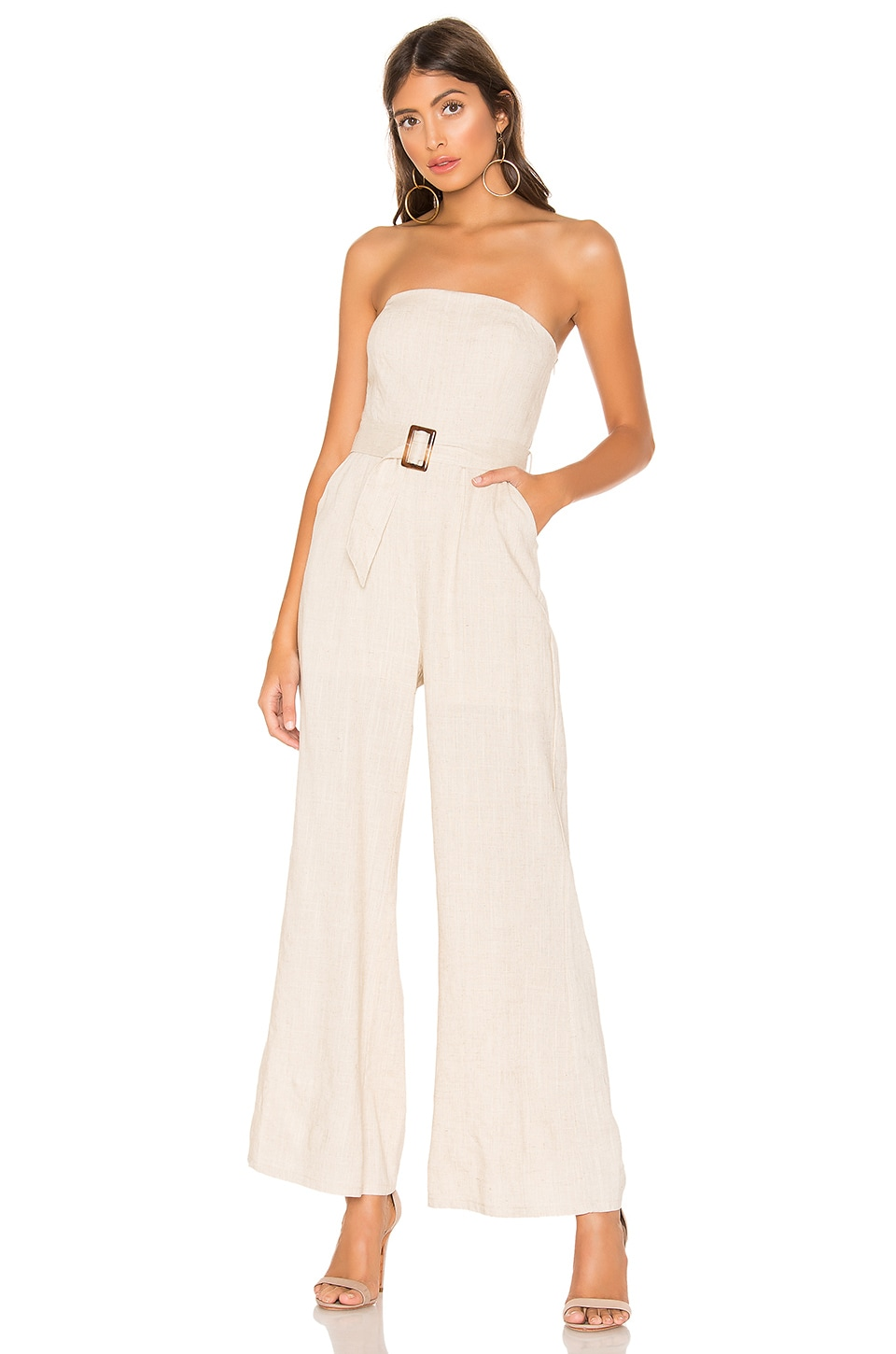 superdown Margo Belted Jumpsuit in Natural