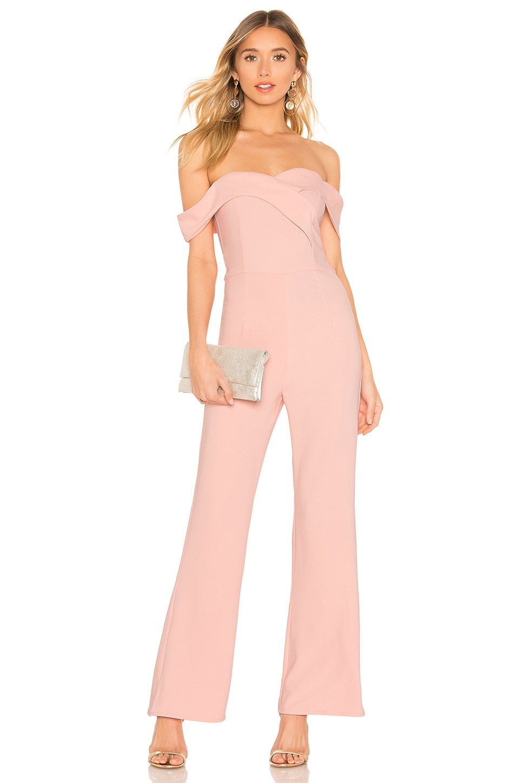 superdown Sabrina Jumpsuit in Pink