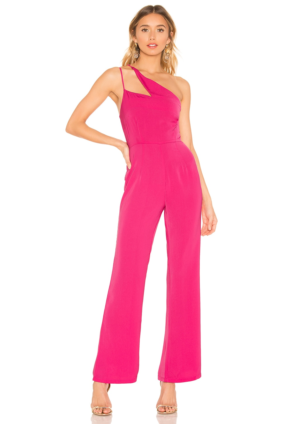 superdown Anouk Cut Out Jumpsuit in Pink