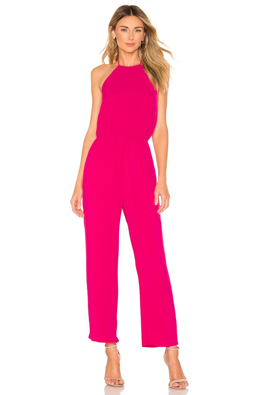 superdown Brielle Halter Jumpsuit in Pink