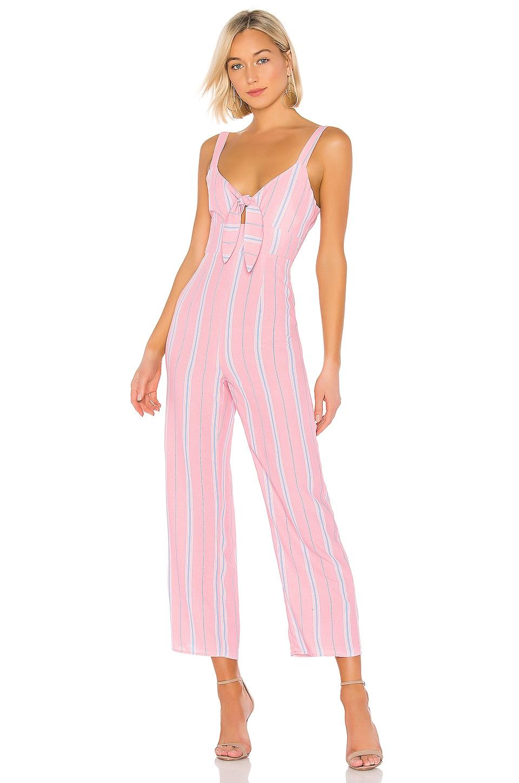 superdown Kimbra Jumpsuit en Pink Stripe