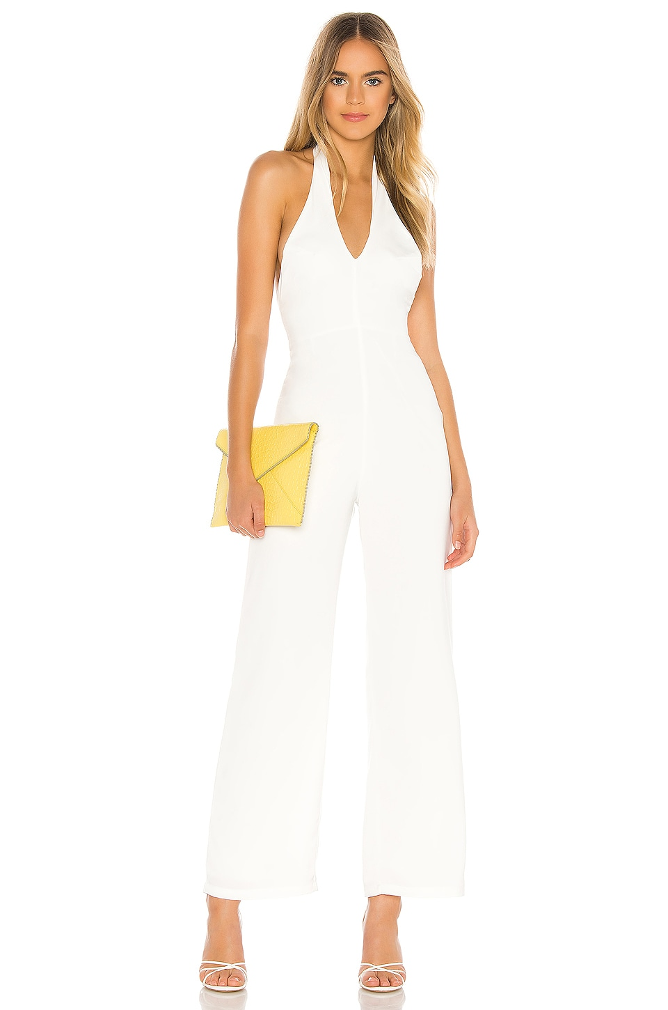 superdown Jess Halter Jumpsuit in White