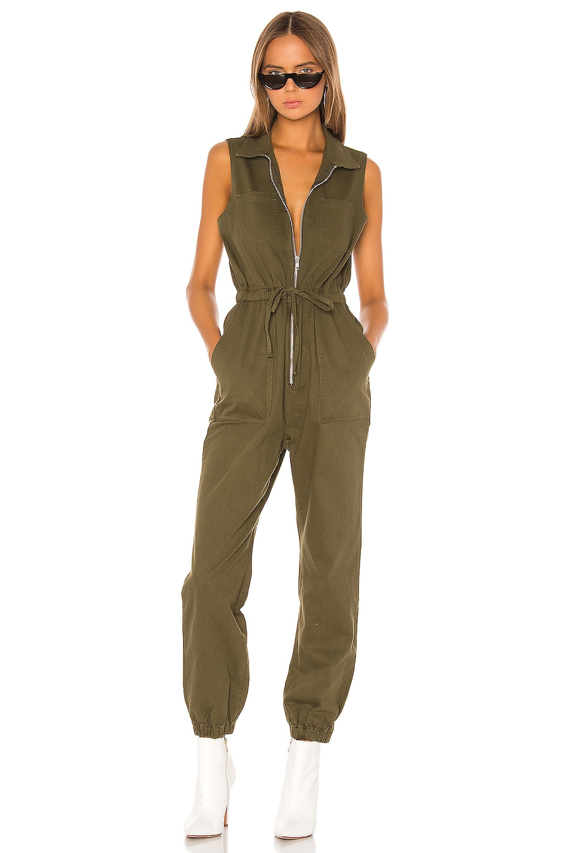 superdown Elisa Sleeveless Jumpsuit in Army Green