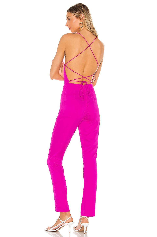 superdown Livie Tie Back Jumpsuit in Magenta
