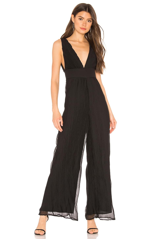 superdown Winona Pleated Jumpsuit in Black