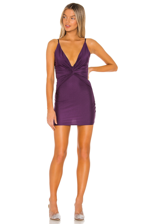 superdown Molina Twist Mini Dress in Plum