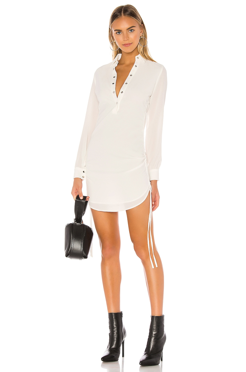 superdown Maimie Ruched Side Dress in White