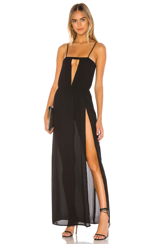 superdown Julietta Maxi Dress in Black