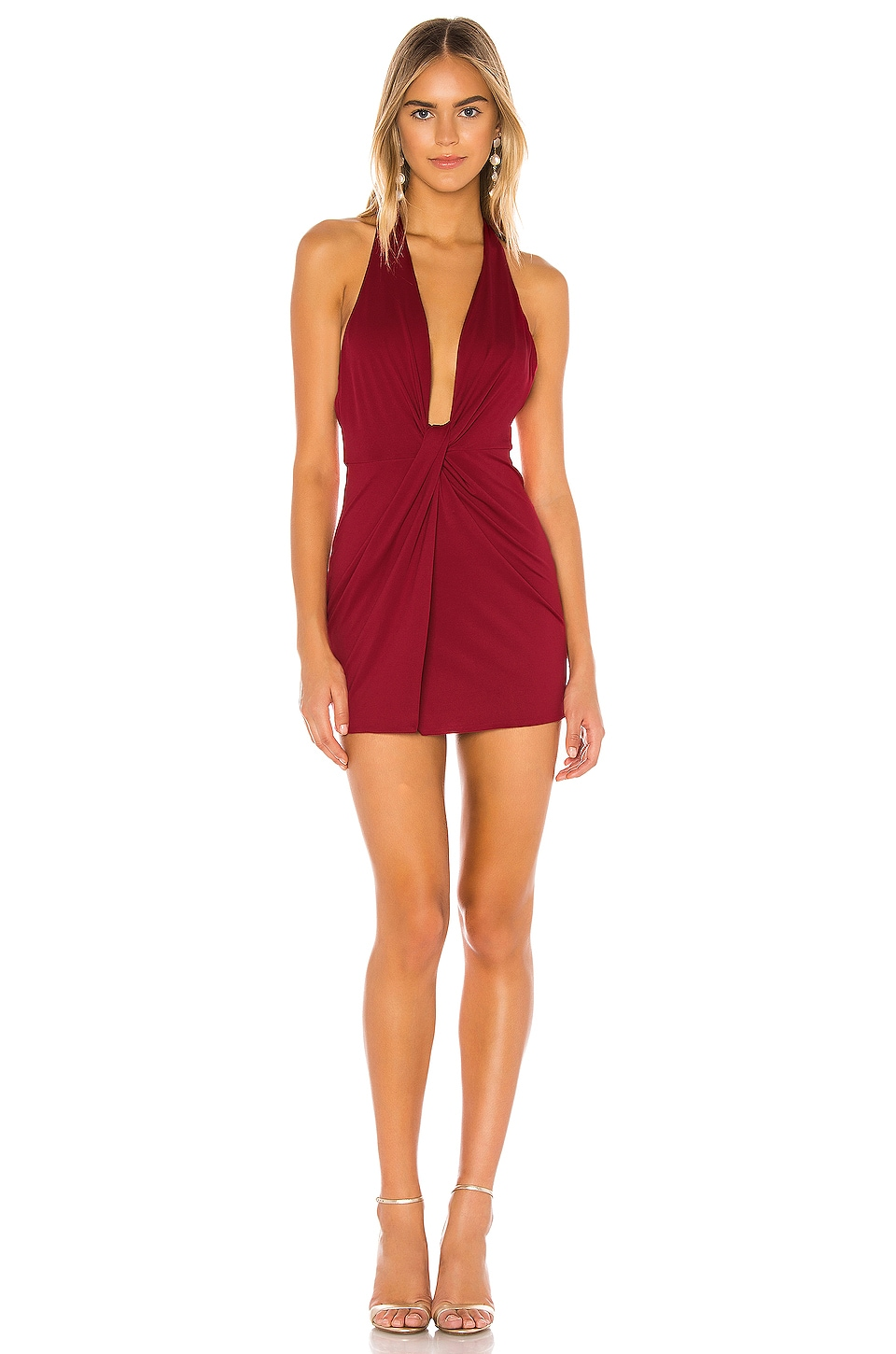 superdown Theodora Halter Dress in Red