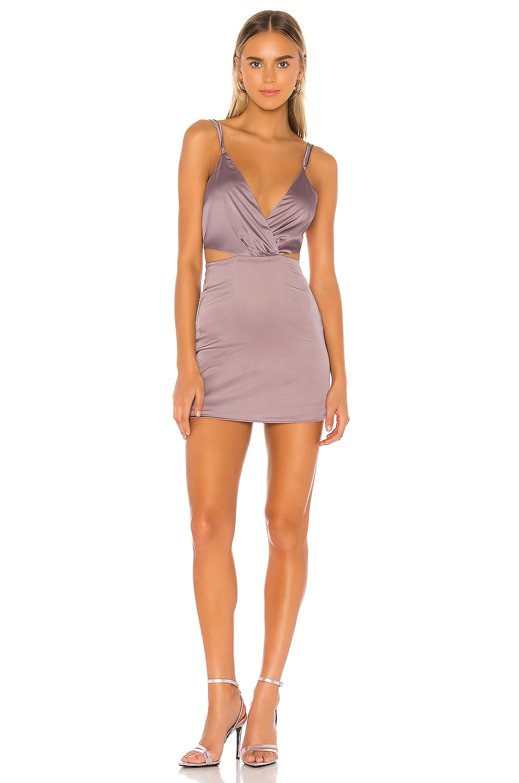superdown Aliz Mini Dress in Dusty Purple