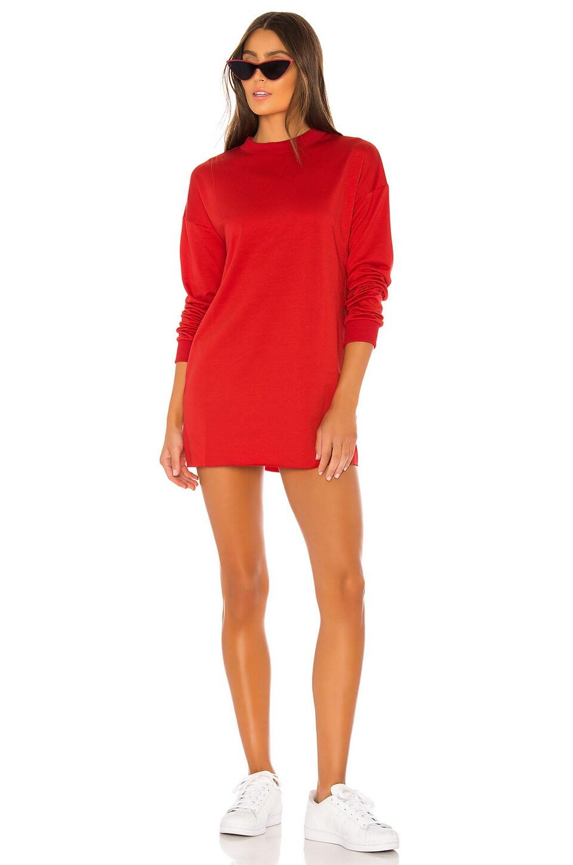 superdown Cindy Tee Dress in Red