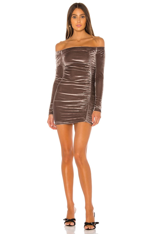 superdown Eden Long Sleeve Dress in SIlver