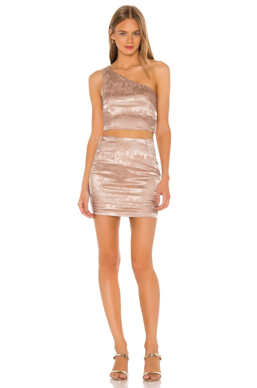 superdown Athena Mini Skirt Set in Gold