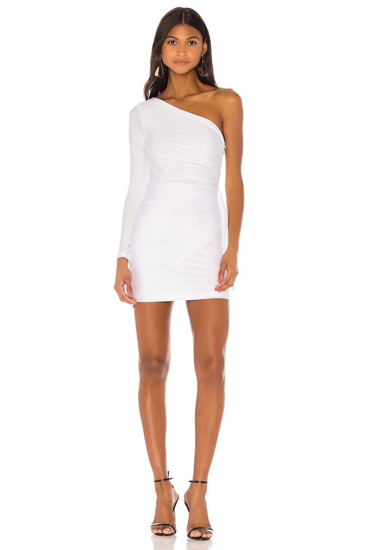 superdown Alisa One Shoulder Dress in White