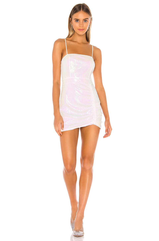 superdown Harlee Sequin Cami Dress in White