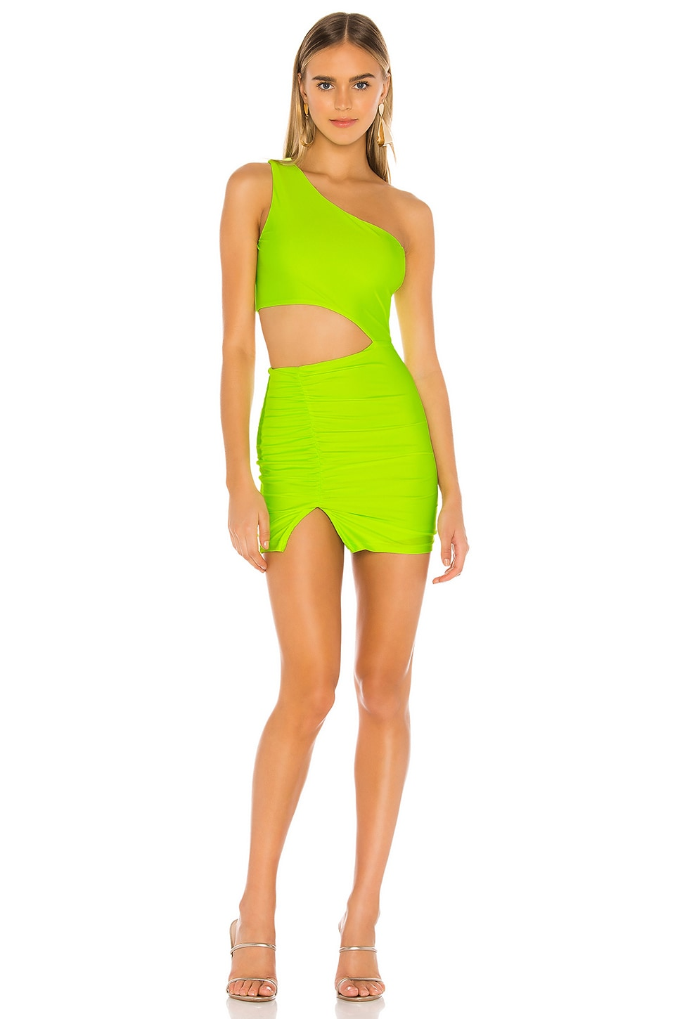 superdown Maddison Cut Out Dress in Neon Green