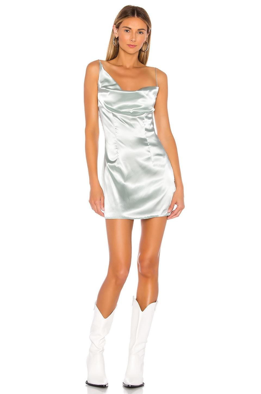 superdown Juliana Cowl Neck Dress in Green