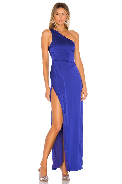 superdown Karlee Slit Maxi Dress in Royal Blue