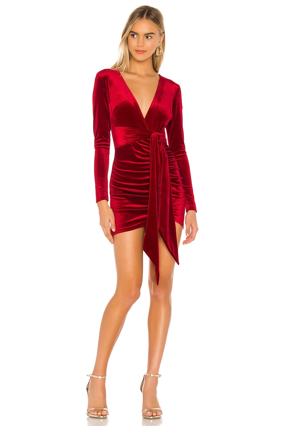 Superdown Jaylin Ruched Mini Dress In Red Revolve Цена 2 054 ₽ руб. revolve