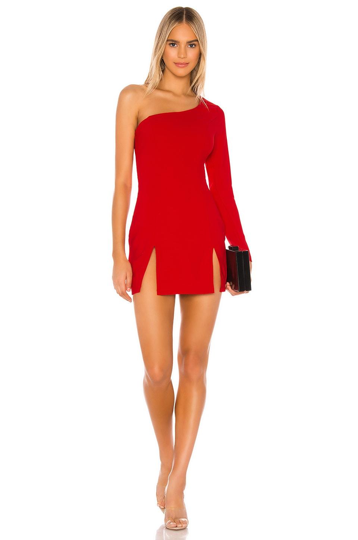 superdown Rosalie Double Slit Dress en Red