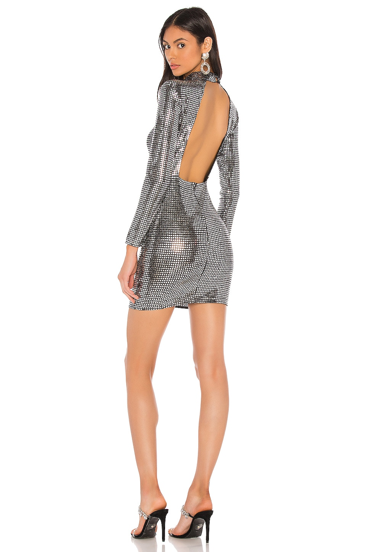 superdown x Draya Michele Scarlette Mini Dress in Silver